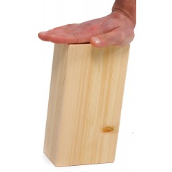 Ladrillo, taco o bloque yoga de madera
